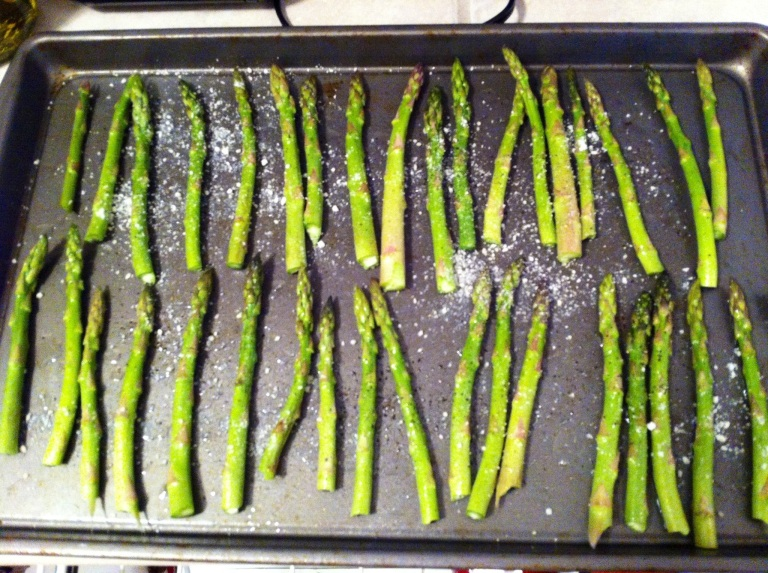 Baking asparagus at a high heat for a short period of time ensures crunchy veggies.