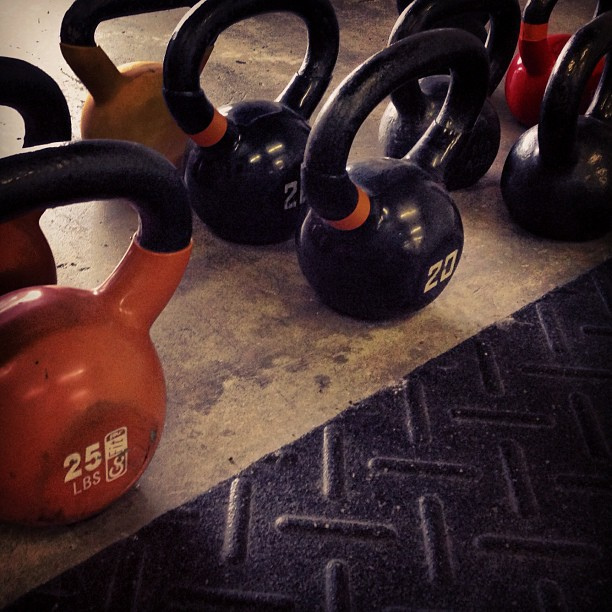 Kettlebells come in a variety of weights, allowing anyone to incorporate them into their workout regimen.
