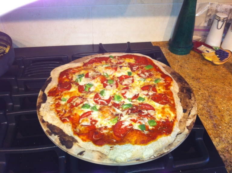 We used a pizza stone a couple of weeks ago, and the finished product was so delicious!