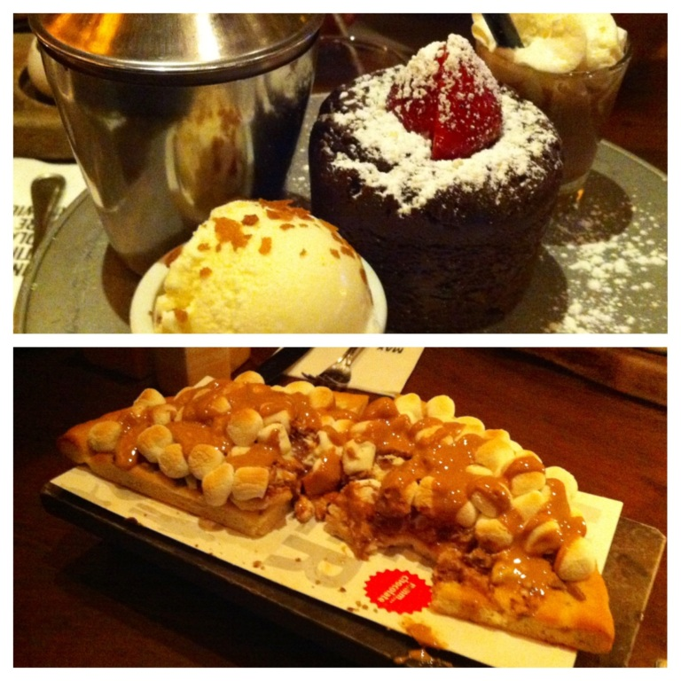 Four of us attempted to eat these two and one other equally impressive dessert.