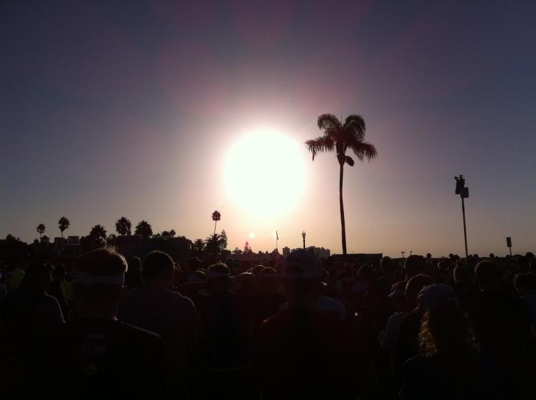 Sunrise shot of the race start at Sunset Park.