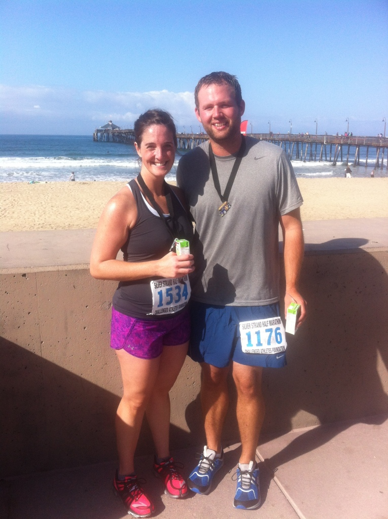 Finishers! We celebrated with a walk on the Imperial Beach pier.