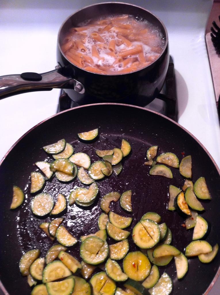 I love it when I can multi-task during dinner prep!
