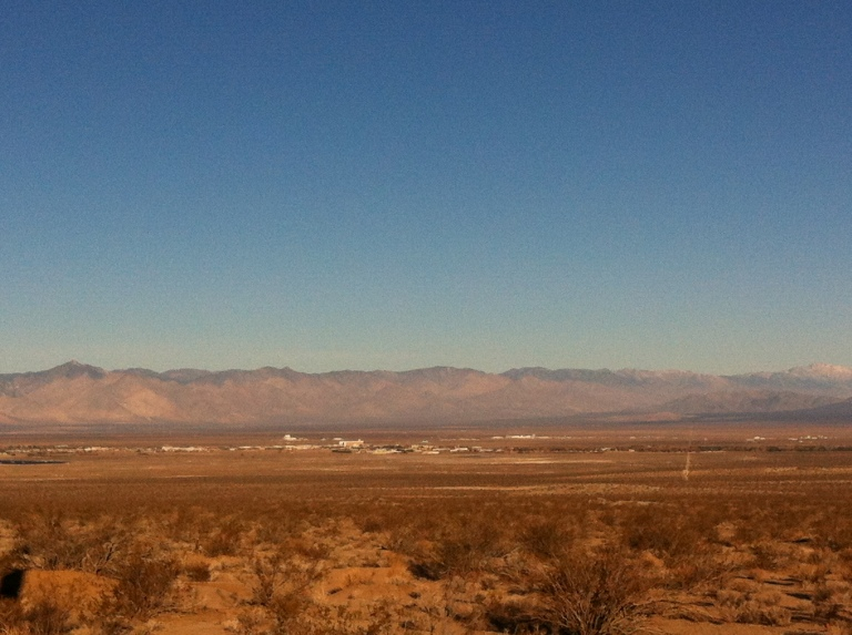 High Desert near Ridgecrest, Calif., offered some fun, off-roading opportunities.