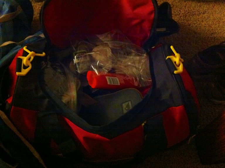 Packed crew bag - check!