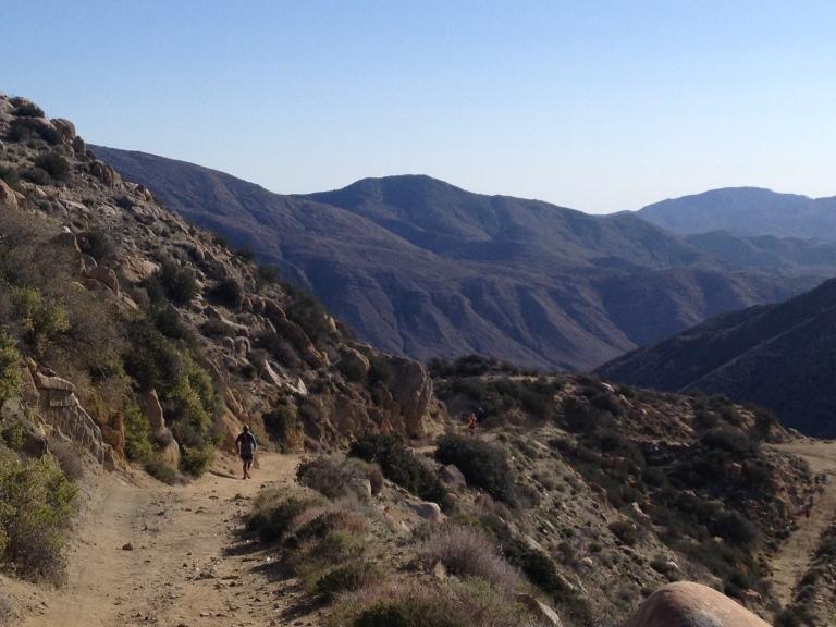Heading down Oriflamme Canyon.